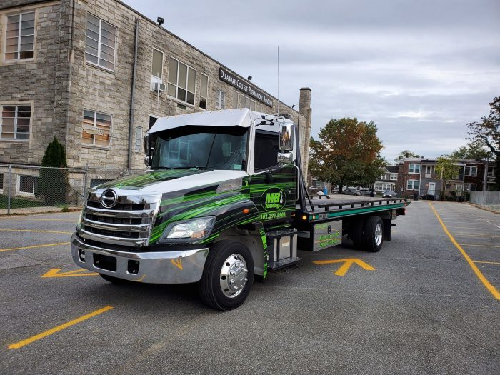 Green and black flatbed with stainless accessories