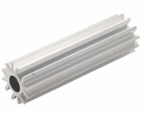 cross section of an aluminum roll-up bar for a truck tarping sytem