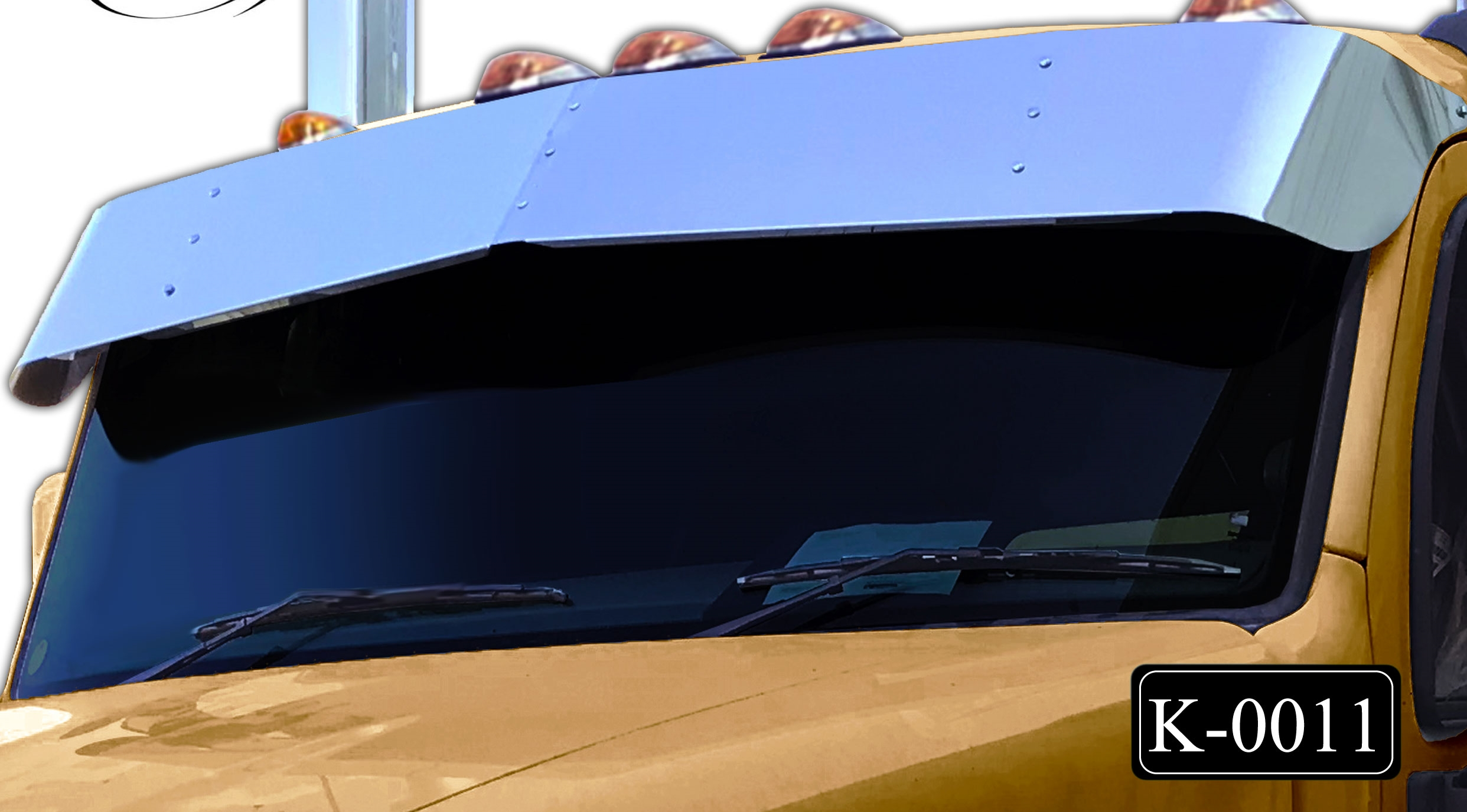bowtie visor on a gold truck