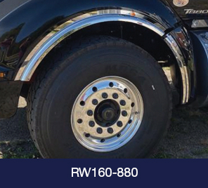 truck wheel with stainless fender