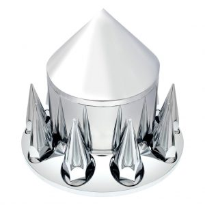 chrome look rear axle cover with spike lug nut covers