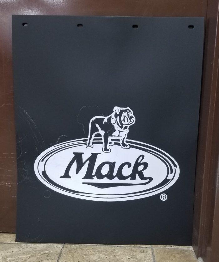 mud flap with Mack bulldog logo