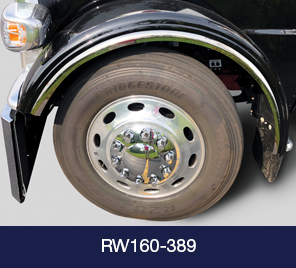 wheel and fender on black truck