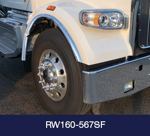 partial wheel and bumper of white truck cab