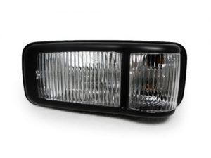 Black corner light for Isuzu truck