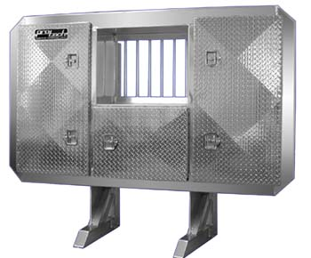 cab guard with tool boxes