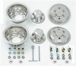 wheel cover set - 4 wheel covers, 2 axle covers, and assorted hardware