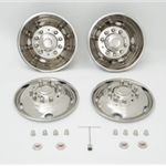 wheel cover set - 2 rear cover, 2 front covers and assorted hardware