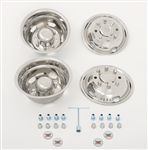 wheel cover set - 2 rear, 2 front and assorted hardware