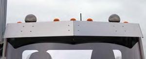 close view of drop visor