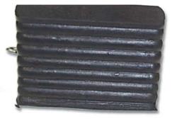 black rubber ridged wheel chock