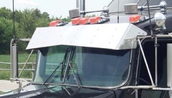 bowtie visor on black truck