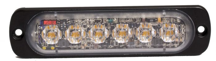 rectangular light, clear lens with 6 diodes