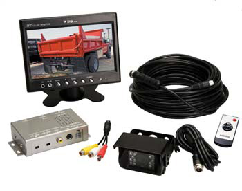 l.c.d. screen and electronic components for backup camera