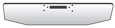 drawing of front bumper