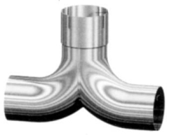 chrome split exhaust divider