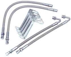4 braided metal extensions, 4 metal brackets