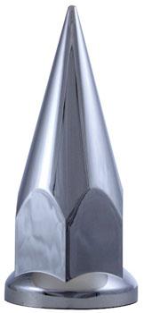 chrome plastic flanged spike lug nut cover
