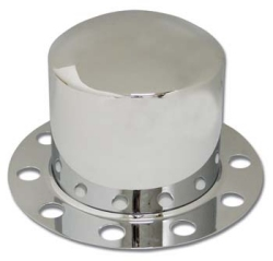 stainless steel high hat style rear wheel cover