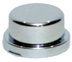 chrome plastic flanged flat lug nut cover