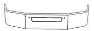 drawing of curved front bumper with vent