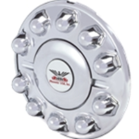 chrome look front hub cover