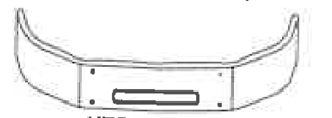 drawing of truck bumper with vent hole