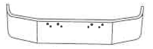 drawing of truck bumper