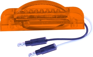 amber l.e.d. light with two plugs
