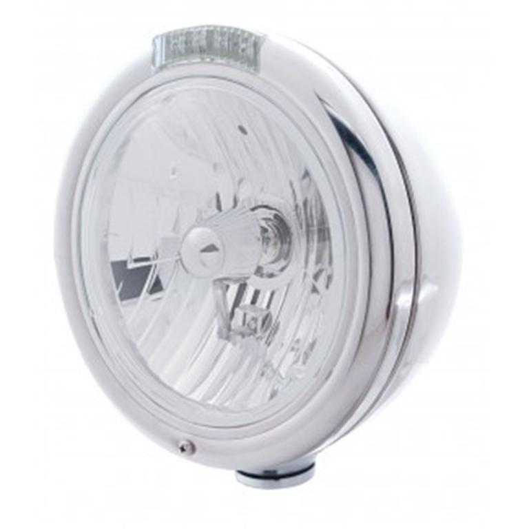 round headlight with clear lens
