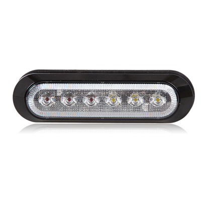 6 diode oval light with black trim