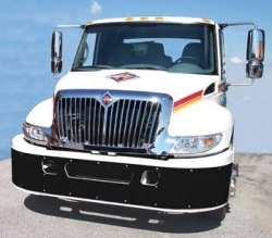 white tow truck with chrome accessories