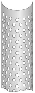 drawing of heat shield with all over round hole cutouts