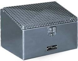 sloped diamond plate lid toolbox