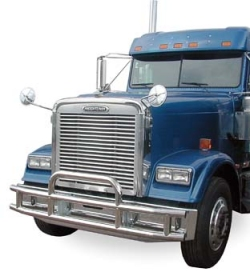 BLUE TRUCK WITH BUMPER GUARD