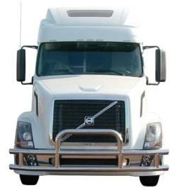 WHITE TRUCK CAB WITH BUMPER GUARD