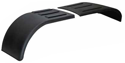 one set of two black poly half fenders