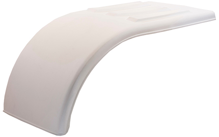 white poly half fender