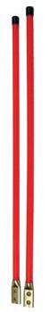 pair of orange guide poles