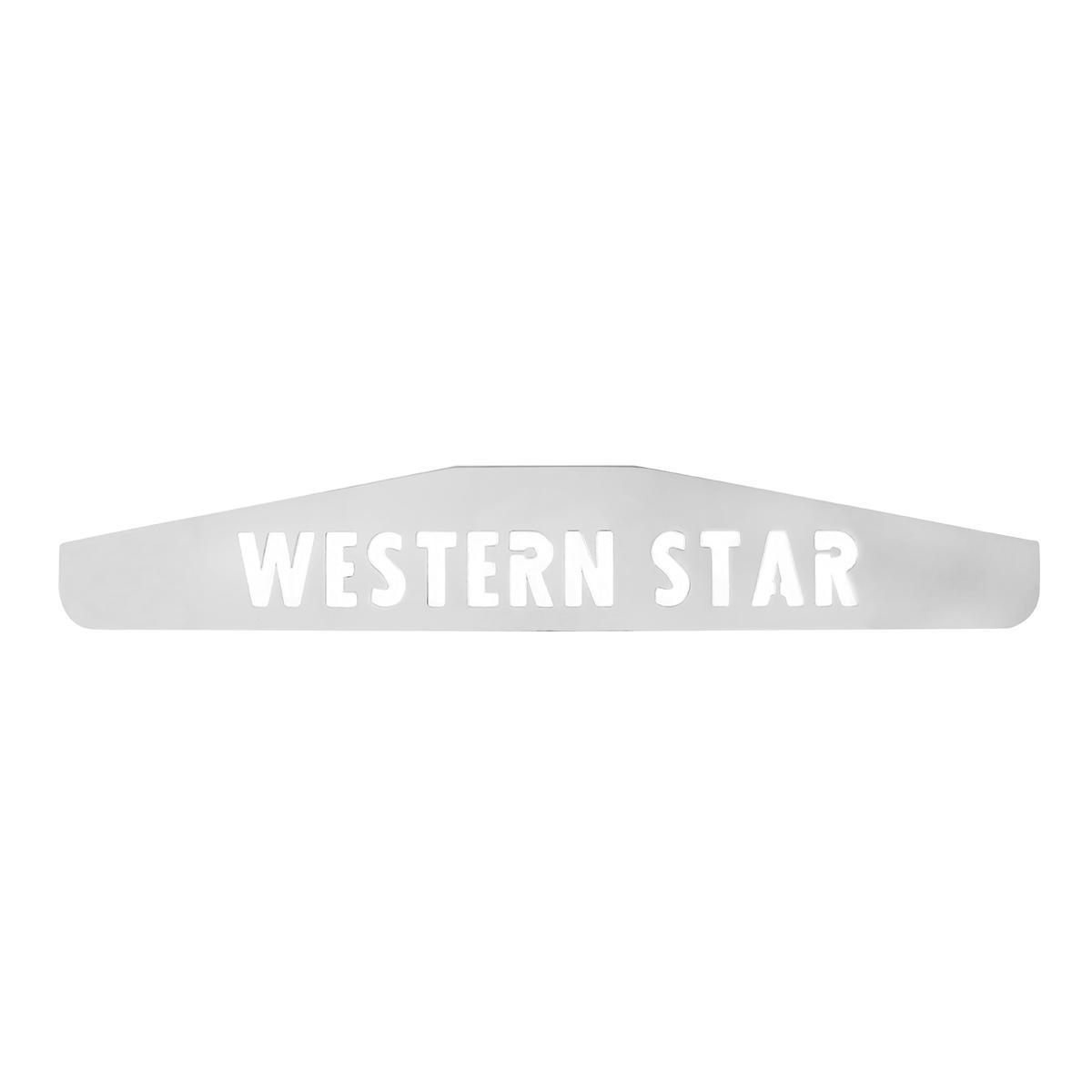 "MUDFLAP WEIGHT WITH ""WESTERN STAR"" CUTOUT"