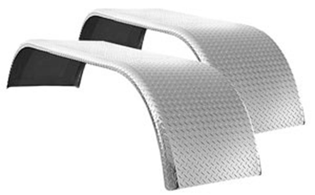 pair of diamond plate full tandem fenders