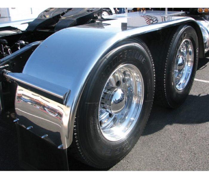 stainless steel full tandem fender on wheel