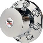 chrome look rear hub cover