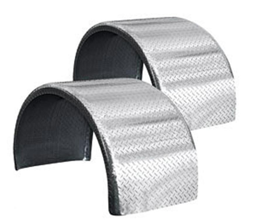 pair of diamond plate half round fenders
