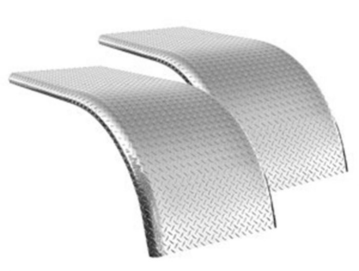 pair of diamond plate half tandem fenders