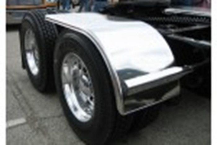 smooth aluminum half fender on truck