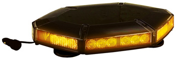hexagon shaped light bar with amber lights