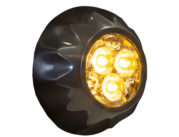 amber l.e.d. light with black fitting
