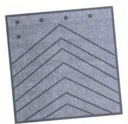black mud flap with chevron design