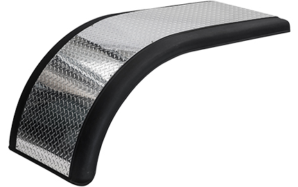 black plastic and diamond plate half fender